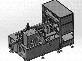 全自动喷码移印机 spab1004 通用格式 3D图纸 三维模型