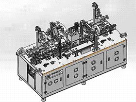全自动喷码移印机 spab1005 通用格式 3D图纸 三维模型