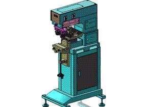 表面印刷双色油墨盘移印机 SPAB2001 solidworks 3D图纸 三维模型