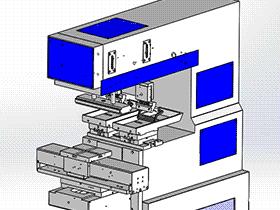 双色移印机 3D模型 SPAB2003 solidworks 3D图纸 三维模型