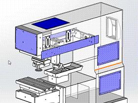 单色移印机 3D模型 SPAB2004 solidworks 3D图纸 三维模型