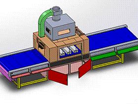 UV固化机喷涂流水线 SPAC1001 solidworks  3D图纸 三维模型