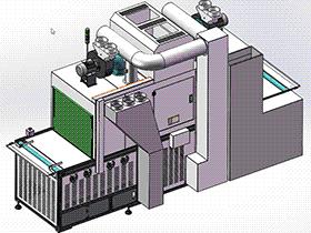 UV暴光机手机屏幕UV固化机点胶机 含整套工程图 SPAC2002 solidworks  3D图纸 三维模型