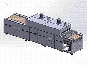UV烘干炉固化炉3D图纸 F951 SPAC2004 solidworks  3D图纸 三维模型