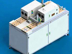 点胶固化机循环自动生产线 UV固化 SPAC2005 solidworks  3D图纸 三维模型