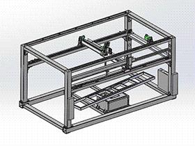 【原创】5轴木门喷漆机 SPAD1005 solidworks 3D图纸 三维模型