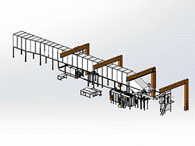 粉末喷涂系统 SPAD1006 solidworks 3D图纸 三维模型