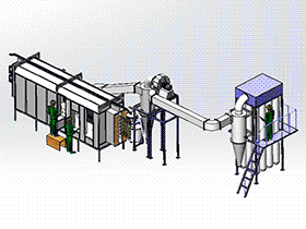 粉末涂装机 SPAD2001 solidworks  3D图纸 三维模型