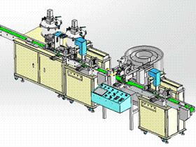 全自动点胶机流水组装机 SPAH1002 solidworks 3D图纸 三维模型