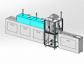 眼镜镜片点胶烘烤设备 SPAH1006 solidworks 3D图纸 三维模型