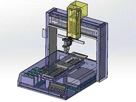 W331点胶机 SPAH2003 solidworks格式 3D图纸 三维模型