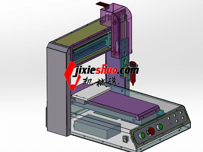 桌上型UV三轴点胶机平台 SPAH2004 solidworks格式 3D图纸 三维模型