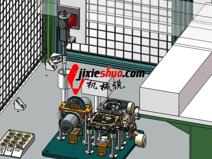 F933-换挡箱涂胶机 带工程图 SPAH2005 solidworks格式 3D图纸 三维模型