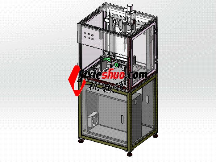马达定子点胶机 全套3D模型+工程图  SPAH2008 solidworks格式 3D图纸 三维模型