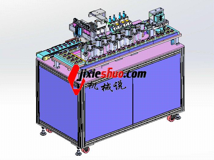 全自动喇叭点胶组装机 SPAH2010 solidworks格式 3D图纸 三维模型