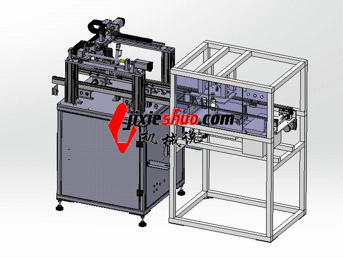 刷锡点胶机一体机 SPAH2011 solidworks格式 3D图纸 三维模型