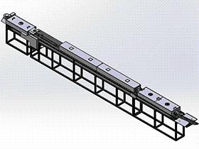 喷油流水线 SPAU1002 solidworks 3D图纸 三维模型