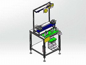 手机壳喷油治具自动组装设备 SPAU1004 solidworks 3D图纸 三维模型