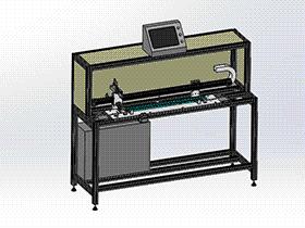 汽车天窗轨道涂油设备 SPAU2001 solidworks 3D图纸 三维模型