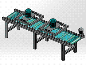 木板涂油机 木工机械 SPAU2004 solidworks 3D图纸 三维模型