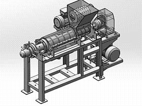破碎机 spfa1002 solidworks 3D图纸 三维模型