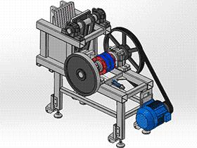 颚式破碎机 spfa1003 solidworks 3D图纸 三维模型
