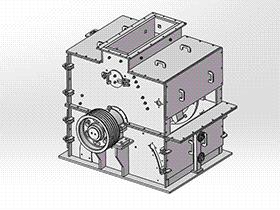 反击破碎机 spfa1004 solidworks 3D图纸 三维模型