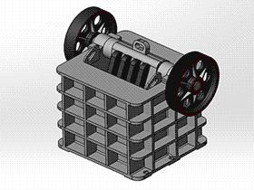 500x1500颚式破碎机 spfa1005 solidworks 3D图纸 三维模型