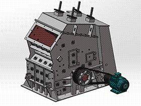冲击式破碎机 spfa1006 solidworks 3D图纸 三维模型