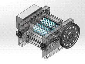破碎机 spfa1007 solidworks 3D图纸 三维模型