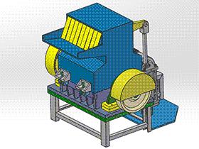 锤式破碎机 spfa1009 solidworks 3D图纸 三维模型