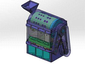 硬币清分整理机  SPHB2001 solidworks 3D图纸 三维模型