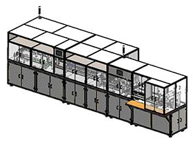 变压器生产线后段检测分拣回流输送流水线 SPHB2003 solidworks 3D图纸 三维模型