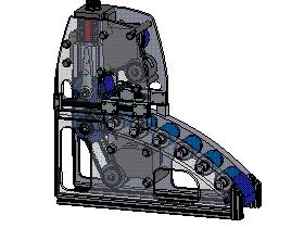 带料输送机冲床自动送料机 SPHC1001 solidworks  3D图纸 三维模型