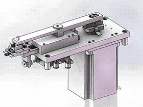 一种高速马达折料带机构 SPHC1004 solidworks  3D图纸 三维模型