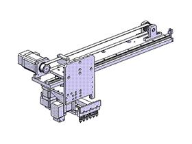 拾取输送机构 SPHD1004  solidworks 3D图纸 三维模型