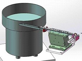L型铁片振动盘拱料分料机构 SPHE2026 solidworks 3D图纸 三维模型