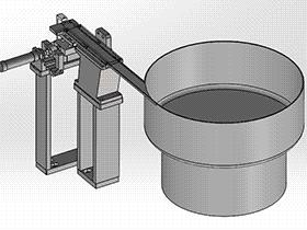 垫片振盘直振送料器分料结构 SPHE2027 solidworks 3D图纸 三维模型