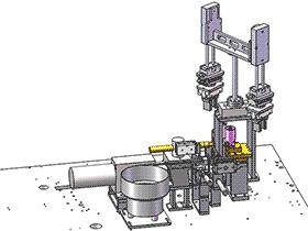 机壳振动盘分料送料电焊及下料机构 SPHE2028 solidworks 3D图纸 三维模型