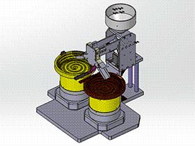 二级管SMD双下料系统设备 SPHH2001 solidworks  3D图纸 三维模型