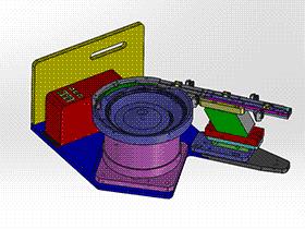 非标机器贴片三极管SMT进料机构 SPHH2002 solidworks  3D图纸 三维模型