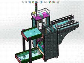 接地端子振动盘送料分料结构图 3D模型 SPHH2004 solidworks  3D图纸 三维模型