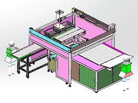 LED灯管测试分选大型取放料机械手生产线设备 sphl2001 solidworks格式 3D图纸 三维模型
