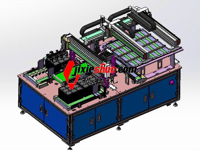 全自动软包电池测试分选机 sphl2003 solidworks格式 3D图纸 三维模型