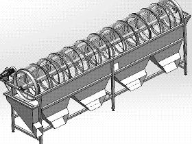 滚筒分级机(果蔬加工机械) SPJA2005 Solidworks 格式 3D图纸 三维模型