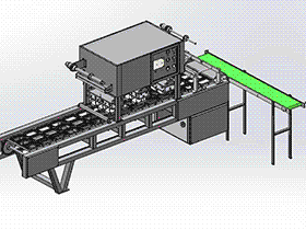 直线式食品封口机 1出3封口机 带工程图 SPJA2012 Solidworks 格式 3D图纸 三维模型
