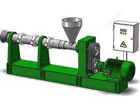 单螺杆食品挤压机 SPJA2015 Solidworks 格式 3D图纸 三维模型