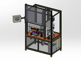 泵体组装拧螺丝机 SPLA1008 solidworks 3D图纸 三维模型
