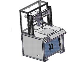 三轴自动锁螺丝机 SPLA1009 solidworks 3D图纸 三维模型