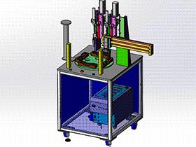 门锁转盘螺丝机 SPLA2006 solidworks 3D图纸 三维模型